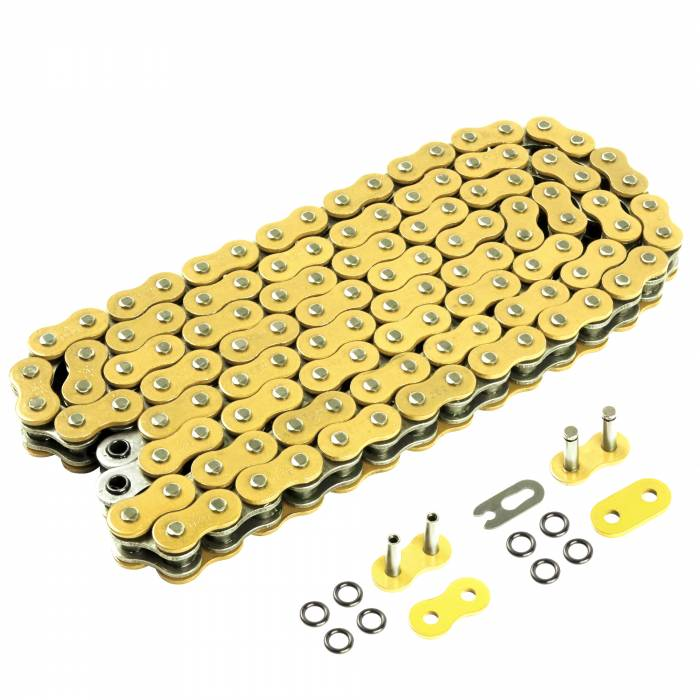 Caltric - Caltric O-Ring Gold Drive Chains CH124-120L-3