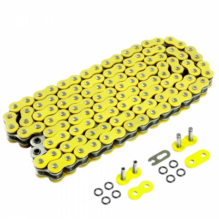 Caltric - Caltric O-Ring Yellow Drive Chain CH206-120L-2