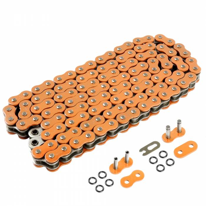 Caltric - Caltric O-Ring Orange Drive Chain CH209-120L-2