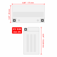 Caltric - Caltric Battery BA171 - Image 4